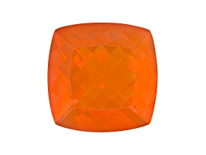 Brasa Color Fire Opal 21.5mm Square Cushion 24.09ct