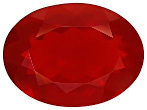 Red Fire Opal 16x12mm Oval 6.50ct