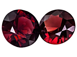 Red Antill Garnet 4mm Round .40ctw Matched Pair