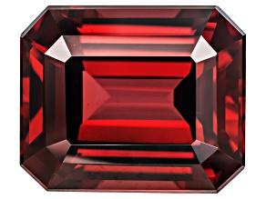 Garnet Raspberry Rhodolite 12x10mm Emerald Cut 8.13ct