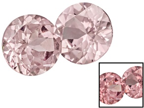 Garnet Color Shift 5mm Round .90ctw Set Of 2 Fluorescent