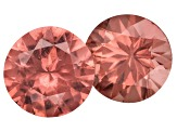 Garnet Color Shift 5mm Round Set Of 2 0.90ctw