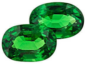 Tsavorite Garnet 1.87ct 7x5mm Oval Matched Pair