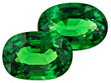 Tsavorite Garnet 7x5mm Oval Matched Pair 1.87ctw