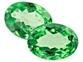 Mint Tsavorite 1.92ct 7.2x5.4mm Oval Matched Pair
