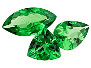 Tsavorite Garnet 1.92ct Set Of 3: Varies mm Varies Shape