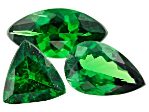 Tsavorite Garnet Mixed Shape Set Of 3 1.75ctw