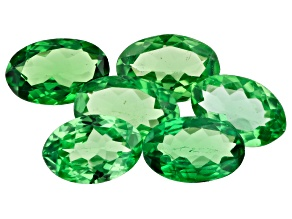 Tsavorite Garnet 2.32ct Set Of 6: 6x4mm Oval