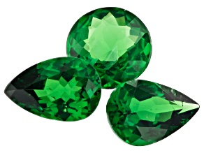 Tsavorite Garnet Mixed Shape Set Of 3 1.34ctw