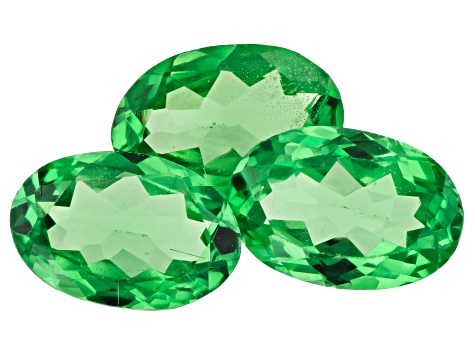Tsavorite Garnet 6x4mm Oval Set Of 3 1.40ctw