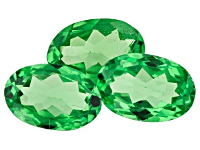 Tsavorite Garnet 1.40ct min wt. Set Of 3: 6x4mm Oval