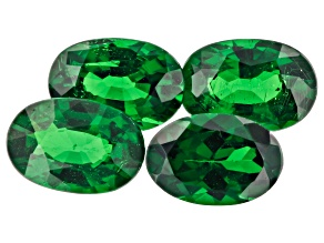 Tsavorite Garnet 2.18ct Set Of 4: 6x4mm Oval