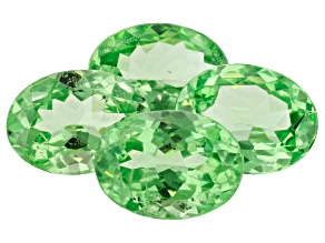 Mint Tsavorite 4.10ct Set Of 4: Varies mm Oval