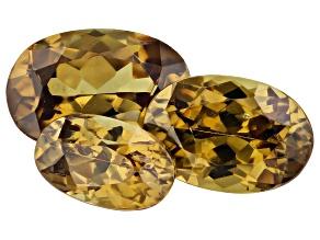 Demantoid Garnet 1.50ct Set Of 3: Varies mm Oval