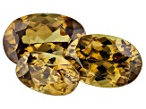 Demantoid Garnet 1.50ct Set Of 3: Varies mm Oval
