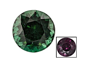 Green Garnet Color Change 6.5mm Round 1.40ct