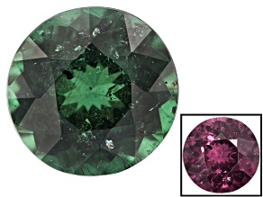 Green Garnet Color Change 6.4mm Round 1.19ct