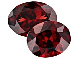 9.98ct Mozambique Garnet Varies mm Set Of 2 Oval