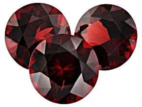 10.62ct Mozambique Garnet Varies mm Set Of 3 Round