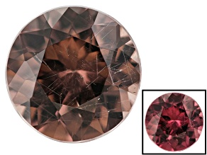 0.80ct min wt. Masasi Bordeaux Garnet ™ Color Shift 6mm Round