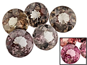 3.52ct Masasi Bordeaux Garnet ™ Color Shift Varies mm Set Of 5 Round