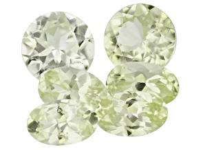 Mint Grossular Garnet MM Varies Round And Oval Set of 6 2.17ctw
