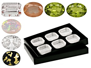 Gem Tray with 6 Types of Gemstones
