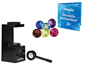 Gemvue Portable Polariscope And Single Or Double Refraction Gemstone Set Of Six With Results Card