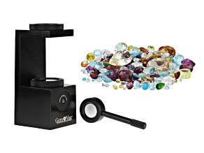 Gemvue portable polariscope and parcel of various gemstones minimum 50.00ctw mixed shapes and sizes