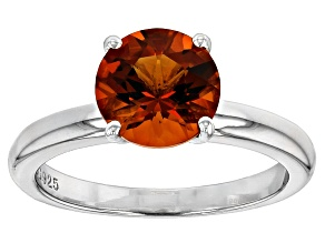 Madeira Citrine 8mm Round With Sterling Silver Solitaire Ring Casting Kit 1.50ct