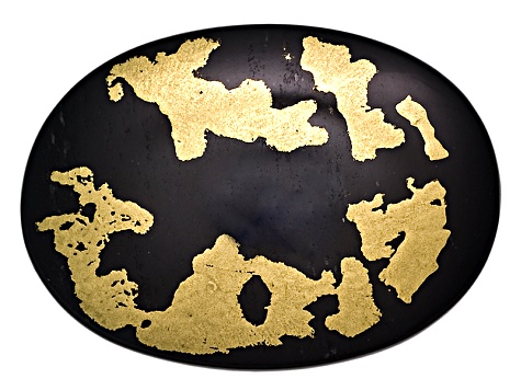 Goldenite Black Hornblende 14x10mm Oval Cabochon
