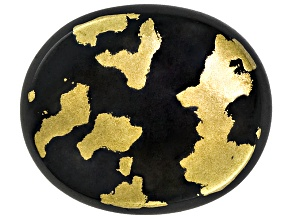 Goldenite Black Hornblende 12x10mm Oval Cabochon