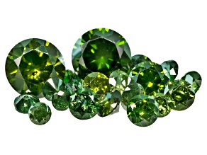 Green Diamond Mixed Round Diamond Cut Parcel .50ctw