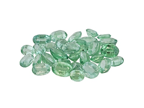 Green Kyanite Mixed Sizes Oval Parcel 10.00ctw
