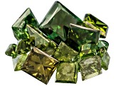 Green Diamond Mixed Princess Cut Parcel