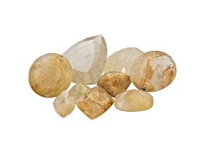 Rutilated Quartz Mixed Shapes and Sizes Parcel 100.00ctw
