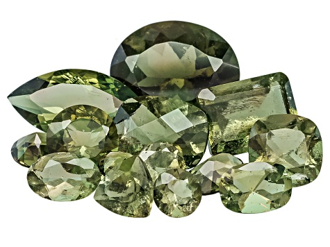 Moldavite Mixed Shapes and Sizes Parcel 10.00ctw