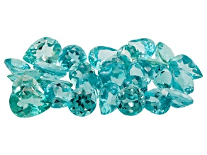 Paraiba Color Apatite Mixed Shape Parcel 20.00ctw