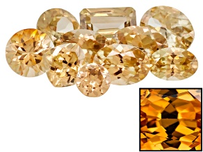 Yellow Zircon Thermochromic Mixed Shape Parcel 10.00ctw