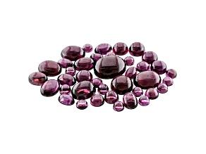 Rhodolite Garnet Mixed Shape Cabochon Parcel 50.00ctw