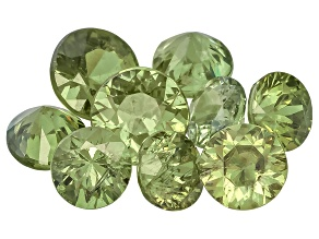 Garnet Demantoid Mixed Round Brilliant Parcel 3.00ctw