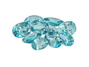 Blue Zircon Mixed Oval Parcel 10.00ctw