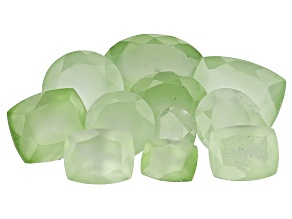 Prehnite 50ctw mm Varies  Mixed Shape Parcel Mined: Australia/Cut: india