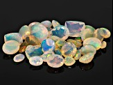 Ethiopian Opal Parcel Of 20.00ctw mm Varies Mixed Shape. The Gemstone Was Mined in Ethiopia And Cut