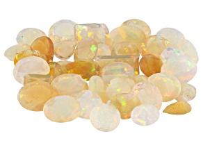 Ethiopian Opal Cutters Repair Lot MM Varies Mixed Shapes 38.00ctw