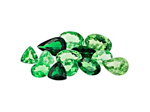 Tsavorite Parcel Mixed Shapes And Sizes 5.00ctw