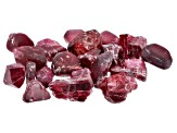 Red Spinel Parcel of Rough Mixed Shapes and Sizes 20ctw