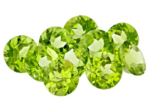 Peridot 8mm Round Parcel of 10 22.69ctw