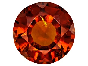 Garnet Hessonite 10mm Round Mixed Step Cut 4.00ct