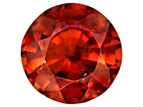Garnet Hessonite 11mm Round Mixed Step Cut 5.50ct